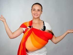 Чем удобен слинг-шарф для новорождённого