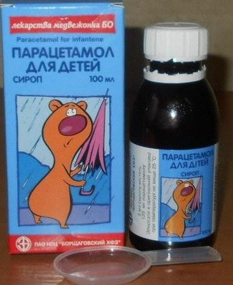 Парацетамол детский (суспензия, сироп): фото