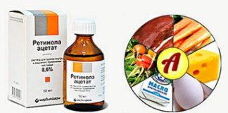 Ретинола ацетат: инструкция по применению, цена, отзывы, аналоги