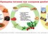 Диеты при сахарном диабете 1 и 2 типов: что можно и что нельзя, таблица питания